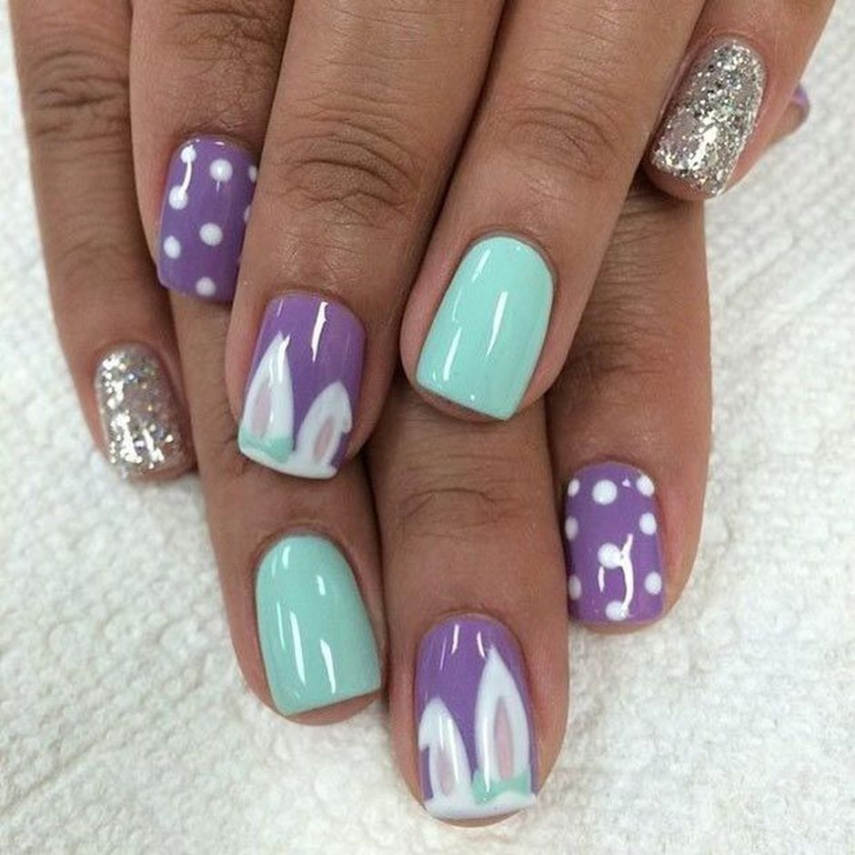 Cute and Easy Easter Nail Art Design Ideas 33 - Cute And Easy Easter Nail Art Design Ideas 33 - Fashion Best