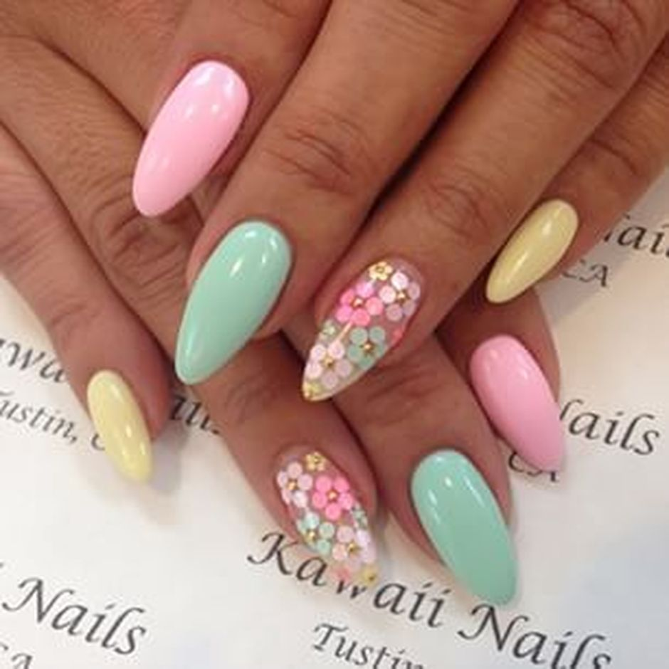 Cute and Easy Easter Nail Art Design Ideas 34 - Fashion Best