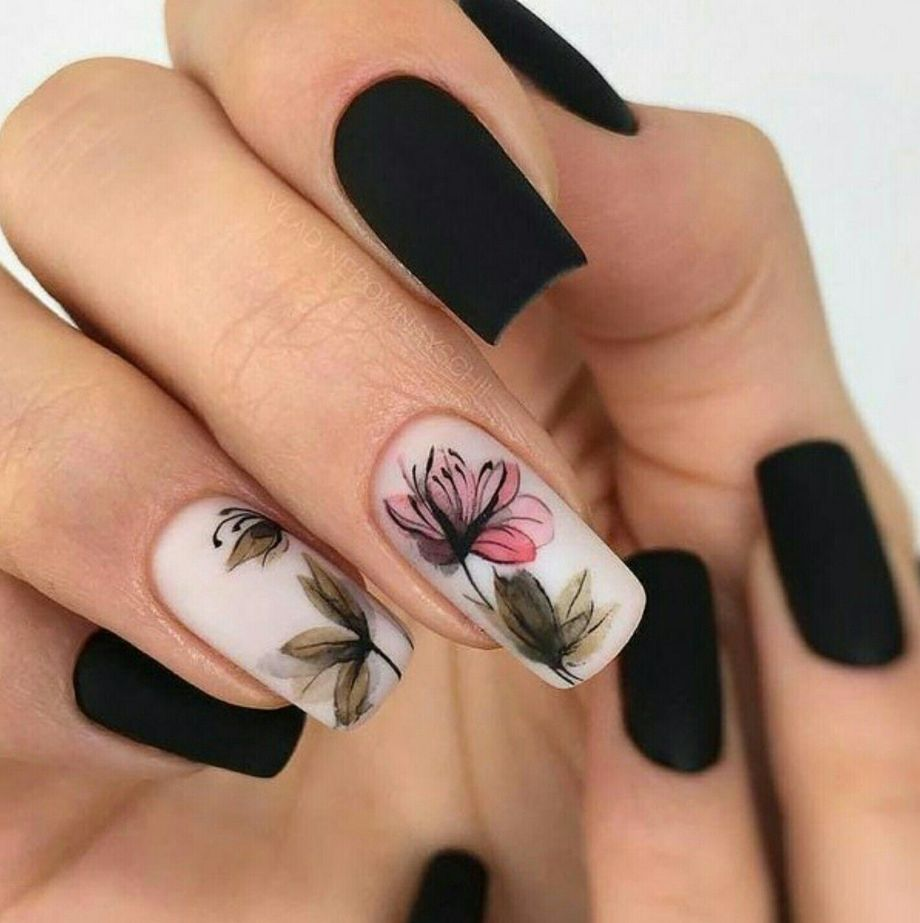 Awesome Floral Nails Design Ideas 21 - Fashion Best