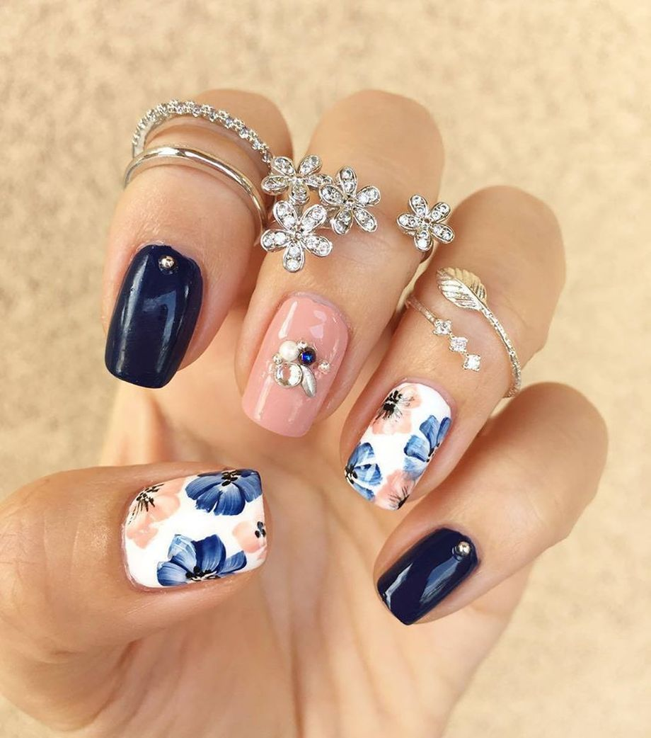 Awesome Floral Nails Design Ideas 5 Fashion Best