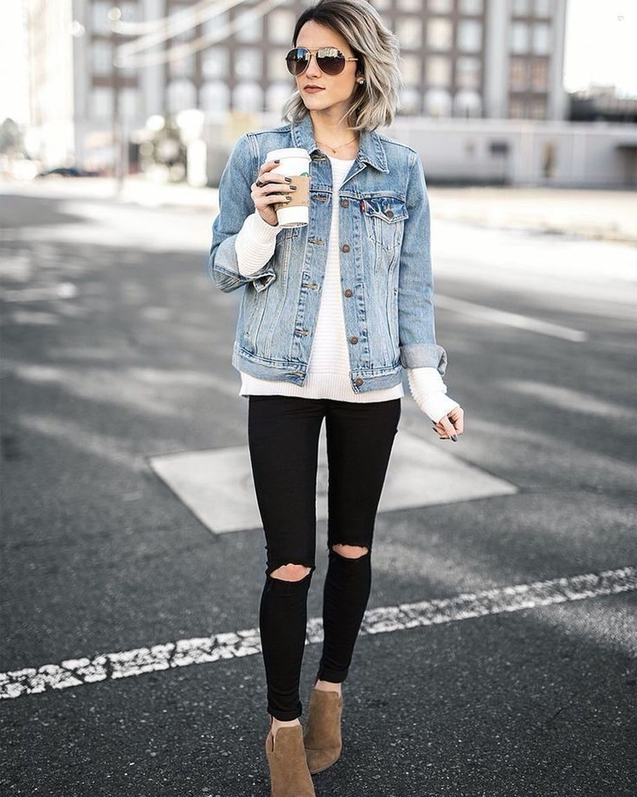 Denim Jacket Outfits Inspirations For Girl 5 Fashion Best